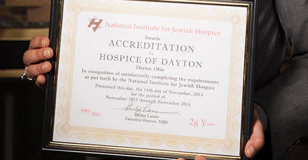 Hospice Of Dayton Earns NIJH Accreditation
