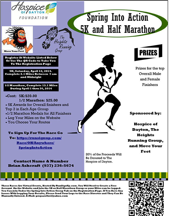 Spring Into Action 5K and Half Marathon