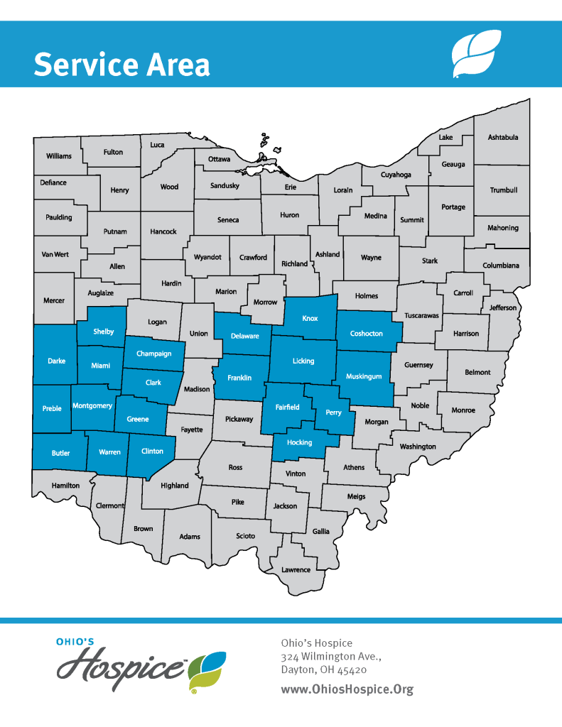 Ohio's Hospice Service Area