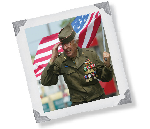 American Pride Program - veteran in a parade