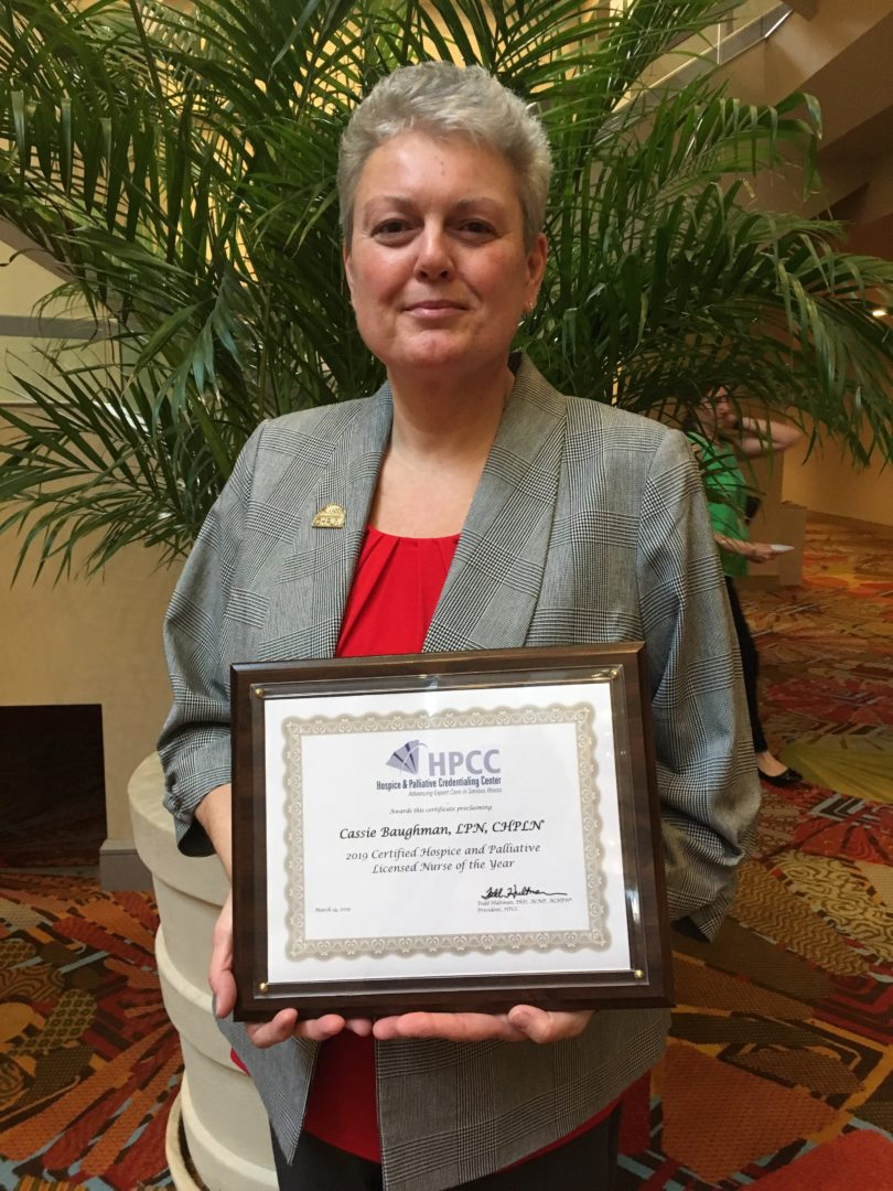 Ohio's Hospice Of Dayton LPN Is Nurse Of The Year