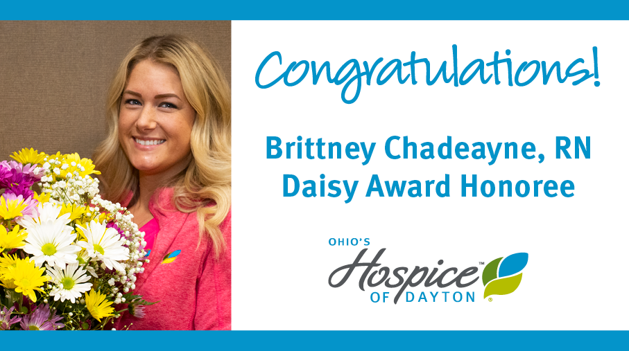 Brittney Chadeayne Of Ohio's Hospice Of Dayton Recognized With DAISY Award
