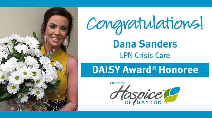 Dana Sanders Of Ohio's Hospice Of Dayton Recognized With DAISY Award®