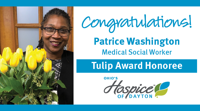 Patrice Washington Of Ohio's Hospice Of Dayton Recognized With Tulip Award