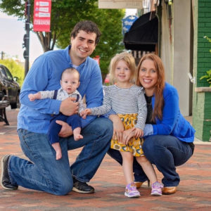 Dr. Danielle Gorsky with her husband and children.